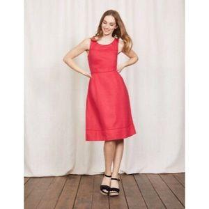 Boden New British Jeo Dress Summer Red Size 6 R